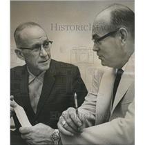 1963 Press Photo Aubrey Yates, Walter Mims-Warrior River Improvement Association