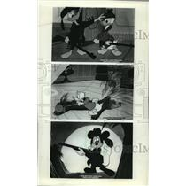 1950 Press Photo Mickey Mouse and Donald Duck, Walt Disney characters.