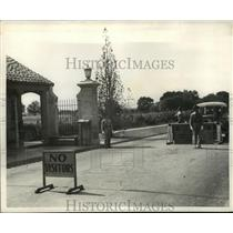 1940 Press Photo Montgomery, Alabama, Maxwell Field, East Gate - abna16993