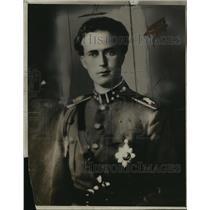 1918 Press Photo King Leopold of Belgium in his military uniform - nem53756
