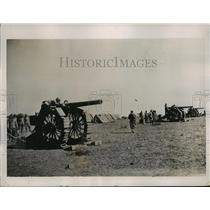 1935 Press Photo Troops with the heavy artillery bombed Makale Ethiopia