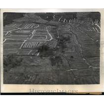 1944 Press Photo Air View of New Guinea Hidden Valley made by Acme Photographer