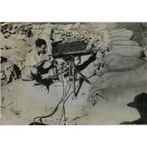 1935 Press Photo Heavy Artillery arrive on the Ethiopia-Eritrean frontier