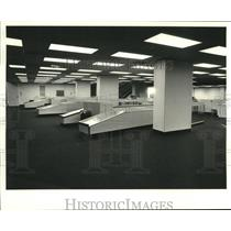 1981 Press Photo Newly completed baggage area at New Orleans Airport.