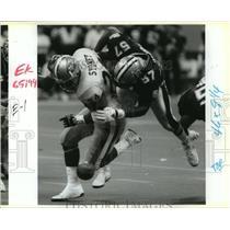 1991 Press Photo New Orleans Saints - Rickey Jackson and Harry Sidney, 49ers