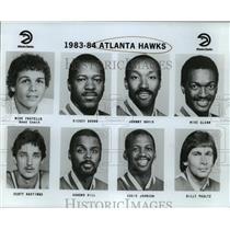 1985 Press Photo Atlanta Hawks - Mike Fratello and Basketball Players