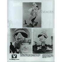 1940 Press Photo Scenes from Walt Disney's classic feature Pinocchio.