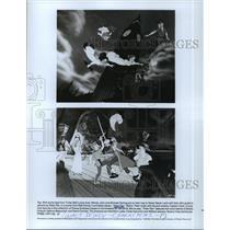 1952 Press Photo Scenes from Walt Disney's animated movie, Peter Pan.