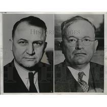 1938 Press Photo Brig Gen William S Key fex WPA chief in OK & Leon Phillips