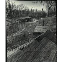 1978 Press Photo Portage Canal, Wisconsin - mjb90453