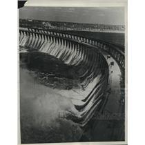 1949 Press Photo Russia's Dnieper dam as it looks after it has been restored