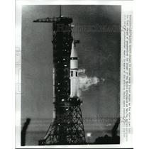 1973 Press Photo Saturn 1B Vents Liquid Oxy. in Preparation of Launch