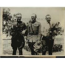 1923 Press Photo Tran-Atlantic Pilots Lt.John S. MacReady and Lt. Oakley Kelly