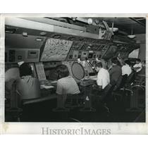 1977 Press Photo Birmingham Municipal Airport Air Traffic Controllers, Alabama