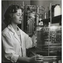 1963 Press Photo Ruth Ann Ratcliff of the Birmingham, Alabama Southern Research