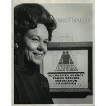 1971 Press Photo Mrs. James E. Clark, President Jefferson County Family Counsel