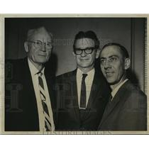 1967 Press Photo William Elliott, John Carter, Reverend Harold Schulz, Alabama