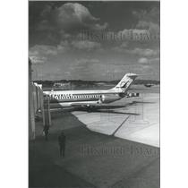 1979 Press Photo Republic Airliner Being Serviced, Birmingham Municipal Airport