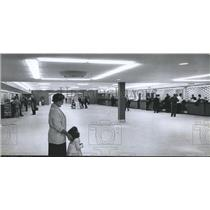 1962 Press Photo Lobby at terminal at Birmingham airport - abna25492