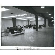 1962 Press Photo Travelers While Away Time at Birmingham Municipal Airport