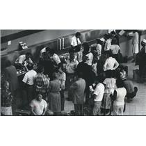 1978 Press Photo Long Lines for Ticket Fares at Birmingham, Alabama Airport