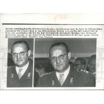 1955 Press Photo Lieutenant General Hans Speidel, Chief of Armed Forces, Paris