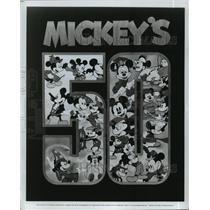 1978 Press Photo Walt Disney character Mickey Mouse on Mickey's 50th celebration