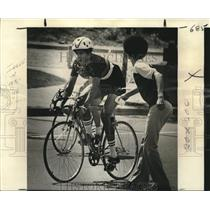 1977 Press Photo Grand Prix Bicycle Race, a part of France-Louisiana Festival