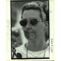 1993 Press Photo Participants to a Gay Rights Protest - nob15996