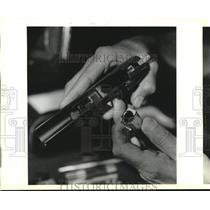 1990 Press Photo Firearms-Picture of a gun. - nob10702