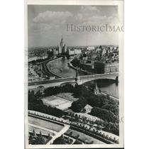 1955 Press Photo View of Moscow River from the Ivan the Terrible belfry, Russia