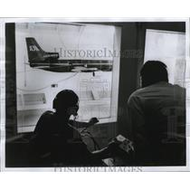 1968 Press Photo Engineers during the Lockheed L-1011 jetliner further tests