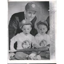 1962 Press Photo Jerry Mark Keith Lynch Cincinnati Reds - RRQ18661