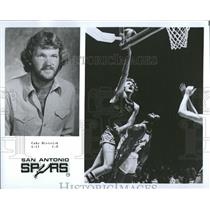 1976 Press Photo San Antonio Spurs Player Dietrick - RRQ20351