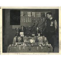 1938 Press Photo Don Lash Indiana University Track Star - RRQ20433