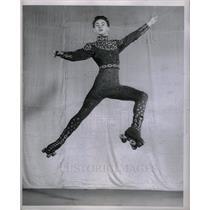 Press Photo Michael Meehan Skating Player