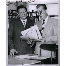1956 Press Photo New York Bulldogs NFL Edo Mencotti