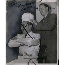 1950 Press Photo Chef Arthur Salasnek & Clint Wilkinson