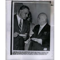 1958 Press Photo Arab Nasser Soviet Nikita Khrushchev