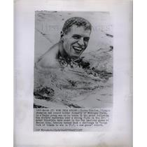 1955 Press Photo Clarke Scholes swimmer Pan American