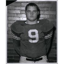 1961 Press Photo Chuck Mrozinski Football Player