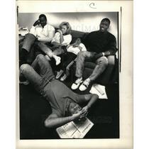 1988 Press Photo Jamie Morris Ann Arbor NFL draft U-M