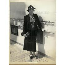 1935 Press Photo Mary Ulm thank Dead Flier's Friends - dfpd29513