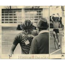 1975 Press Photo Tom Finklea after winning Tour de Louisiana bicycle race