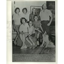 1963 Press Photo Robert Fehsenfeld and family of Cambridge, Maryland - now01943
