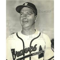 1953 Press Photo Jim Solt of Milwaukee Braves. - mjx46706