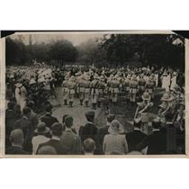 1931 Press Photo Buglers blowing the last Post at the Calcutta graveside