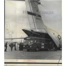 1966 Press Photo Ambulance bus is backed up to at McGuire Air Force Base