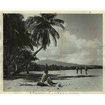 1963 Press Photo Luquillo Beach, Included In Caribbean Carousel, In Puerto Rico