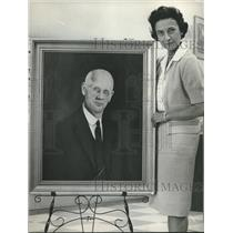 1964 Press Photo Artist and Portrait of Mississippian, Mrs. Harry Rust